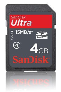 SanDisk Ultra II (SDHC) Class 4 4 GB memory card