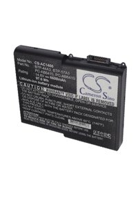 Acer Aspire 1681LMi battery (6600 mAh, Black)