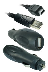 Universal Car charger with Mini-USB connector for Garmin iQue 3000