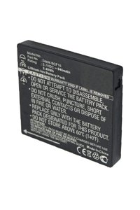 Panasonic Lumix DMC-FS62EG-R battery (940 mAh, Black)