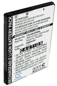 HP / Compaq iPAQ hx4710 battery (2000 mAh)