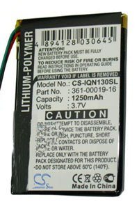 Garmin Nuvi 1370T battery (1250 mAh)