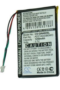 Garmin Nuvi 465T battery (1250 mAh)