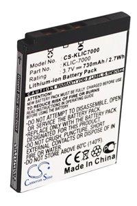 Kodak EasyShare LS755 battery (730 mAh, Black)