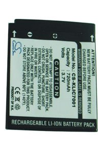 Kodak EasyShare M1063 battery (720 mAh, Black)