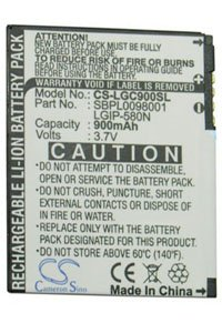 LG Lotus Elite LX610 battery (900 mAh)