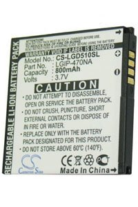 LG GD510 Pop battery (800 mAh)
