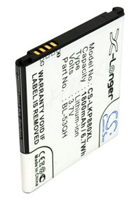 LG Optimus 4X HD P880 battery (1800 mAh)