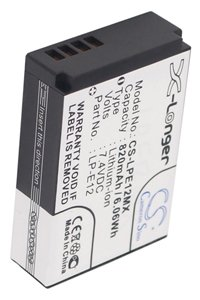 Canon EOS M battery (820 mAh, Black)