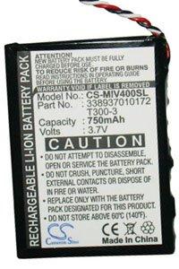Mio Moov 300 Deluxe battery (750 mAh)