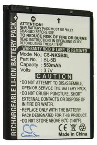 Nokia 5300 XpressMusic battery (550 mAh)