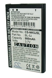 Nokia 5800 XpressMusic battery (900 mAh)