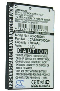 Alcatel OT-E206C battery (800 mAh)