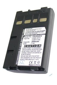 Panasonic NV-VZ1 battery (2000 mAh, Dark Gray)