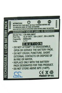 Samsung Digimax NV15 battery (820 mAh, Gray)