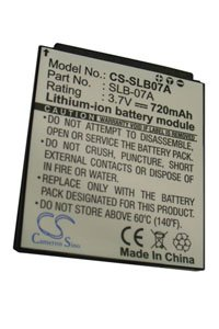 Samsung ST50 battery (720 mAh, Black)