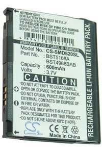 Samsung SGH-D807 battery (600 mAh)