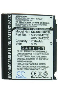 Samsung SGH-D900B battery (700 mAh, Black)