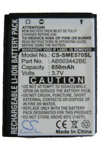 Samsung SGH-J700i battery (650 mAh, Black)
