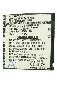 Samsung SGH-E830 battery (750 mAh)