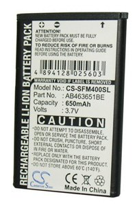 Samsung GT-S5620 Player Star 2 battery (650 mAh)