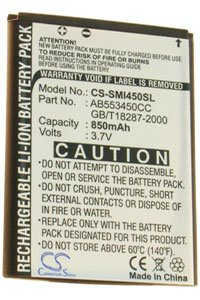 Samsung SGH-I450 battery (850 mAh)
