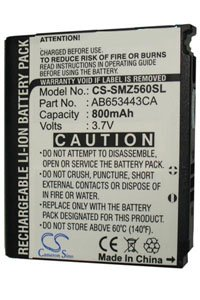 Samsung SGH-T404G battery (800 mAh, Black)