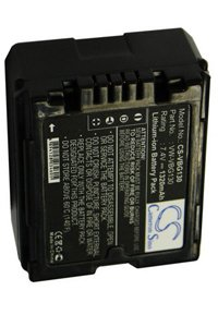 Panasonic HDC-SX5EG-S battery (1320 mAh, Gray)