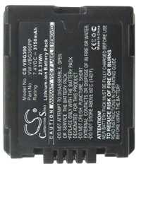 Panasonic HDC-SD20K battery (3150 mAh, Gray)