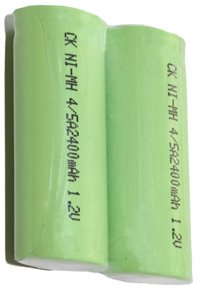 2x 4/5 A battery (2400 mAh, Rechargeable)