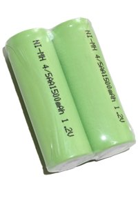 2x 4/5 AA battery with solder tabs (1100 mAh, Rechargeable)