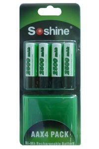 Soshine 4x AA battery (2500 mAh, Rechargeable)