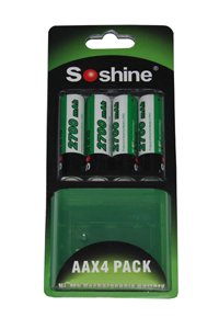 Soshine 4x AA battery (2700 mAh, Rechargeable)