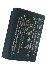 Panasonic Lumix DMC-TZ10 battery (895 mAh, Black)