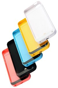 External battery pack (2200 mAh) for Apple iPhone 5C (64GB) (multiple colors available)