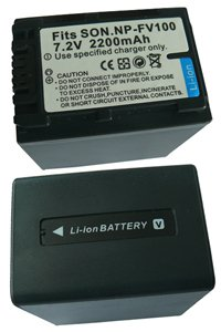 Sony HDR-CX730E battery (2200 mAh, Black)