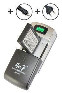 QooP Premium Universal Battery Rapid Charger with LCD display