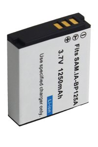 Samsung HMX-T10WP battery (1250 mAh, Black)