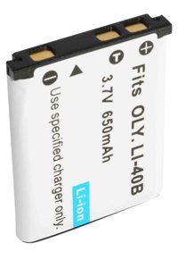 Olympus D-720 battery (650 mAh, Black)