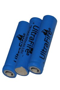 UltraFire 3x 10440 battery (600 mAh, Rechargeable)