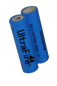 UltraFire 2x 14500 battery (900 mAh, Rechargeable)