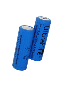 UltraFire 2x 18500 battery (1800 mAh, Rechargeable)